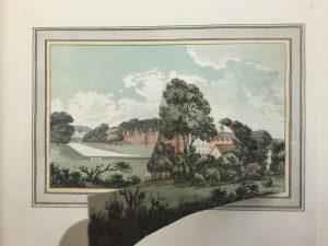 Before-and-after image from Humphry Repton's Sketches and Hints on Landscape Gardening.
